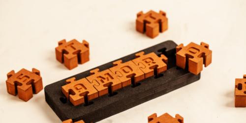 construir palavras com um puzzle