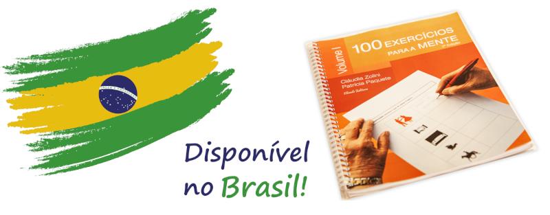 O manual 100 Exercícios para a Mente já está disponível em duas livrarias no Brasil!