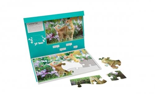 O gato curioso : Um puzzle com 13 peças