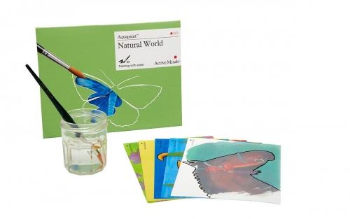 Aquapaint:conjunto com 5 imagens pintáveis com água e reutilizaveis!