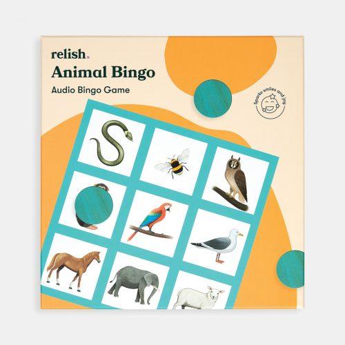 Bingo dos animais: Oiça o cd em modo aleatório e oiça o som real de 20 animais!