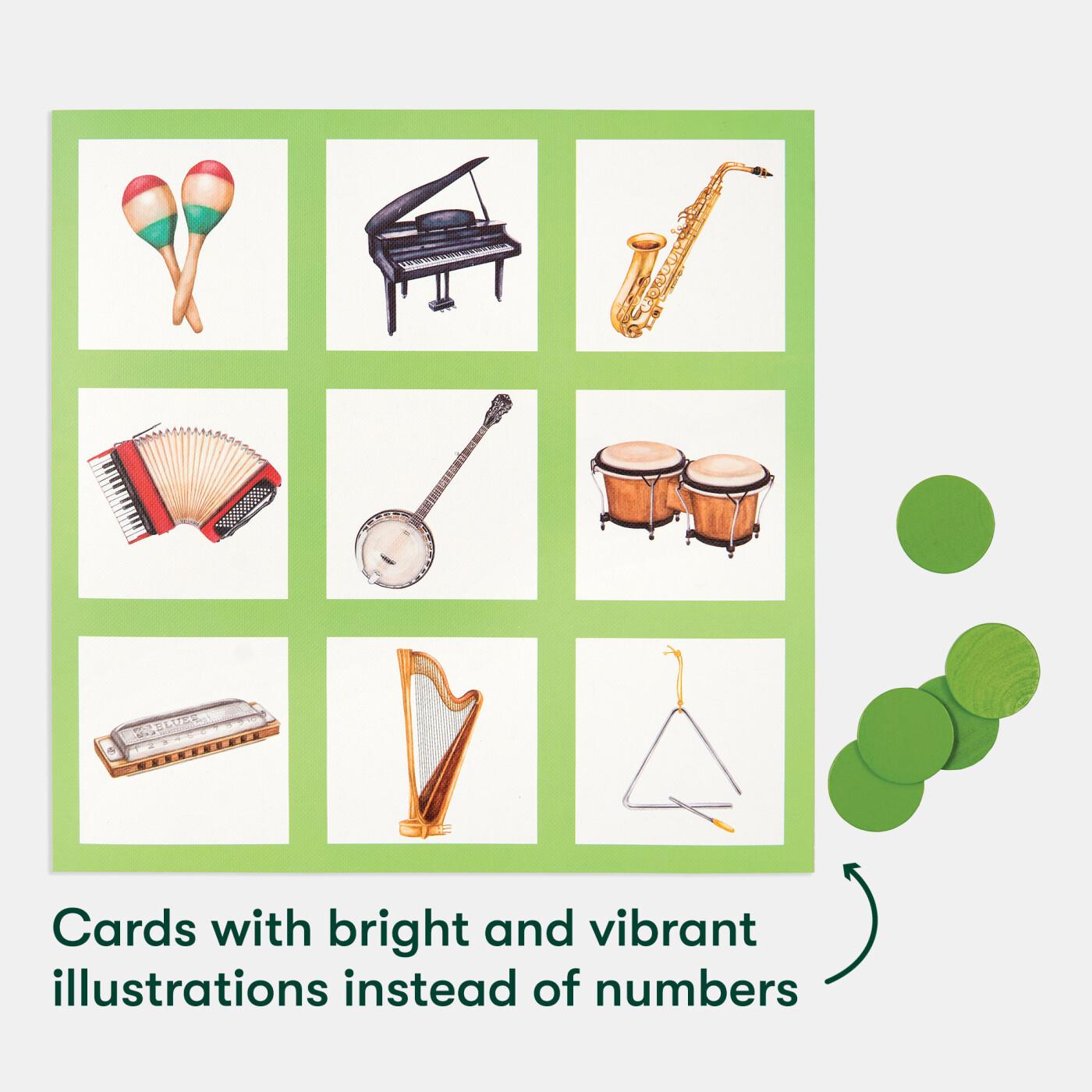 Bingo musical- trocamos os números por instrumentos!