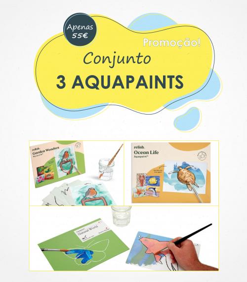 Os aquapaints são os reis da promoção de verão da Humanamente, compre 3 conjuntos a um preço mais baixo e que já inclui os portes de envio!