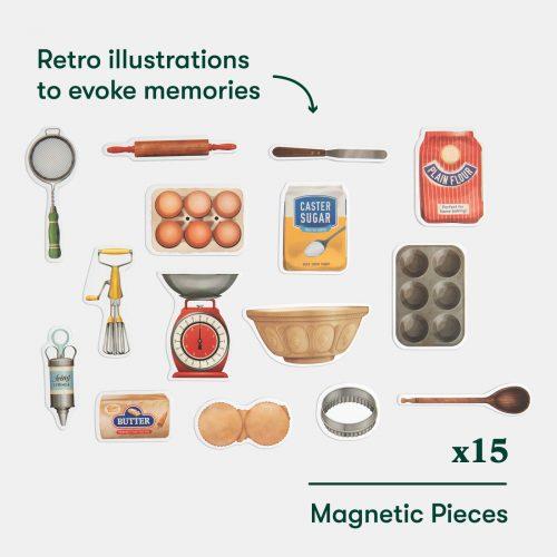 quadro magnético com o tema de culinária
